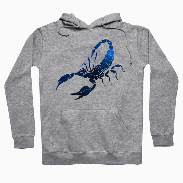 Blue scorpion watercolor painting Hoodie