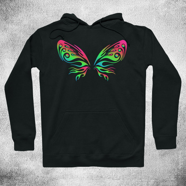 Colourful butterfly Hoodie