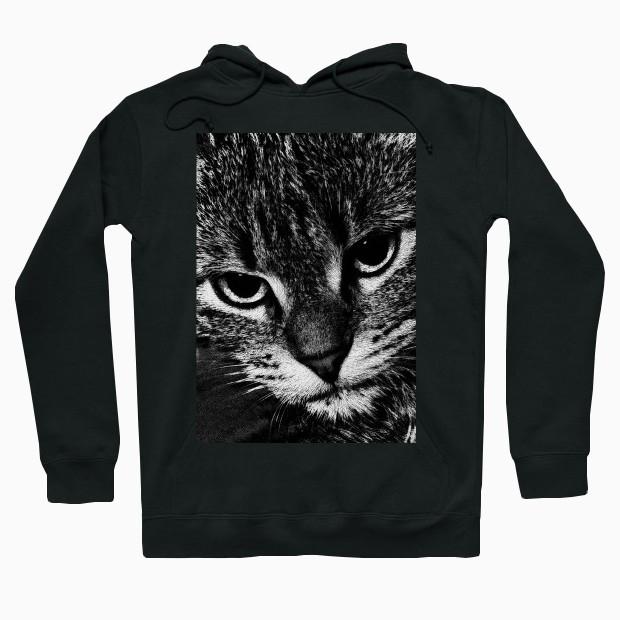 f2b7f6c19f78 Cute cat face Hoodie   Animal Clothing   Pall Kris Store