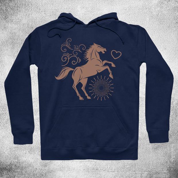 Vintage jumping horse Hoodie