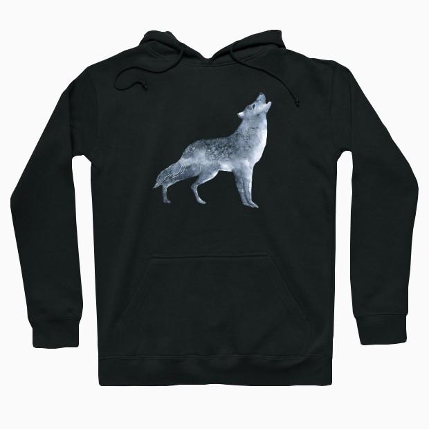 Wolf painting Hoodie