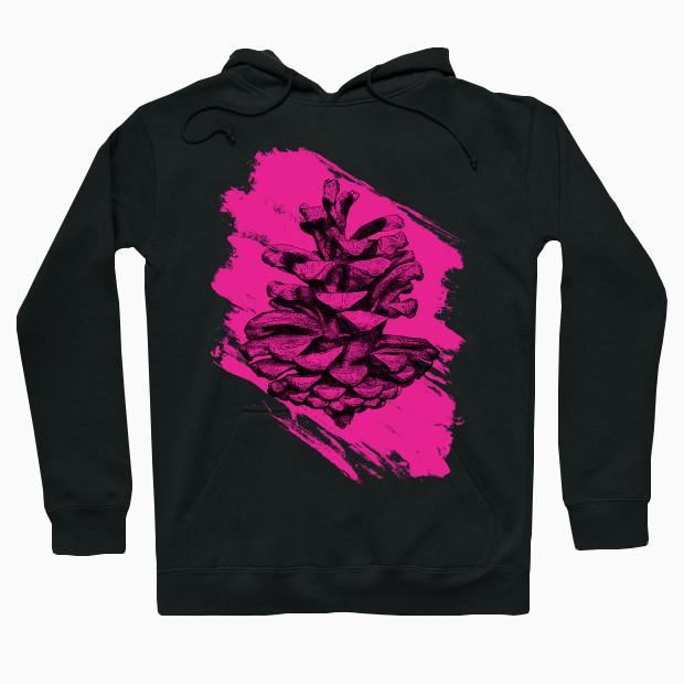 Pink pine cone Hoodie