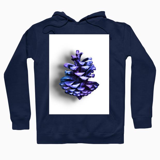 Purple pine cone Hoodie