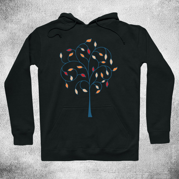 Serious tree illustration Hoodie
