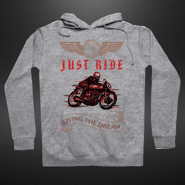 Just Ride Vintage Hoodie