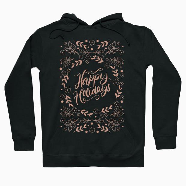 Happy Holidays vintage Hoodie