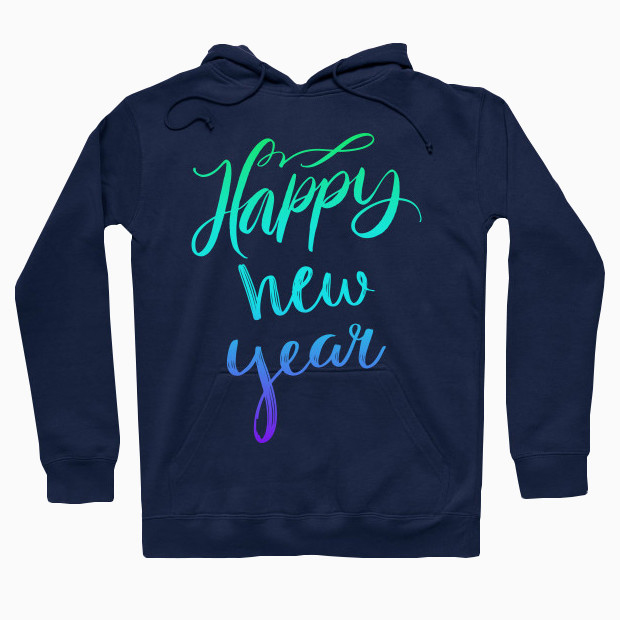 Happy new year colourful Hoodie