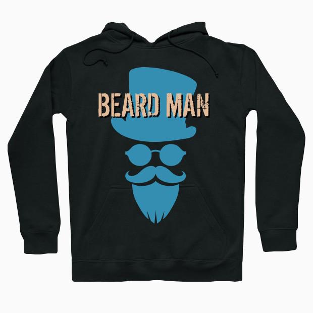 Noble beard man Hoodie