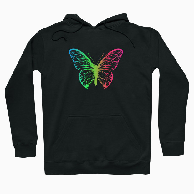 Colourful Butterfly illustration Hoodie
