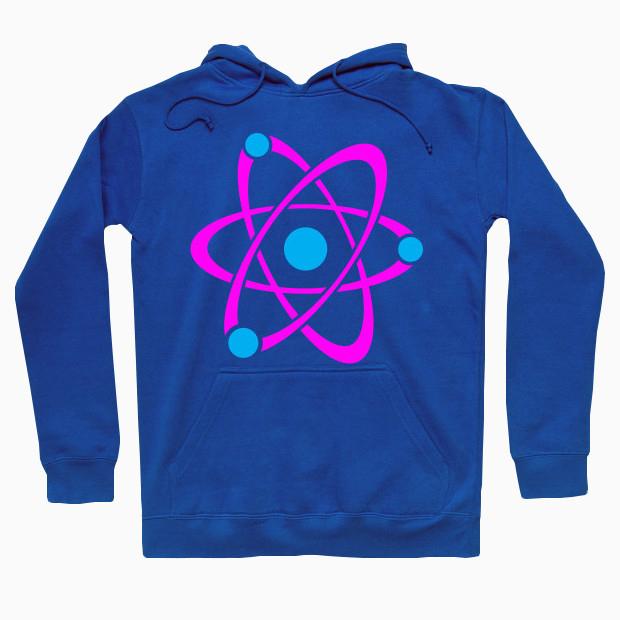 Pink atom Hoodie