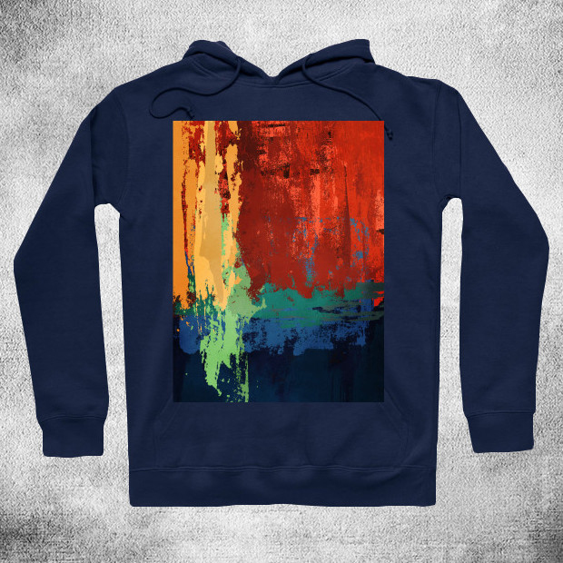 Forest sunset abstract painting Hoodie