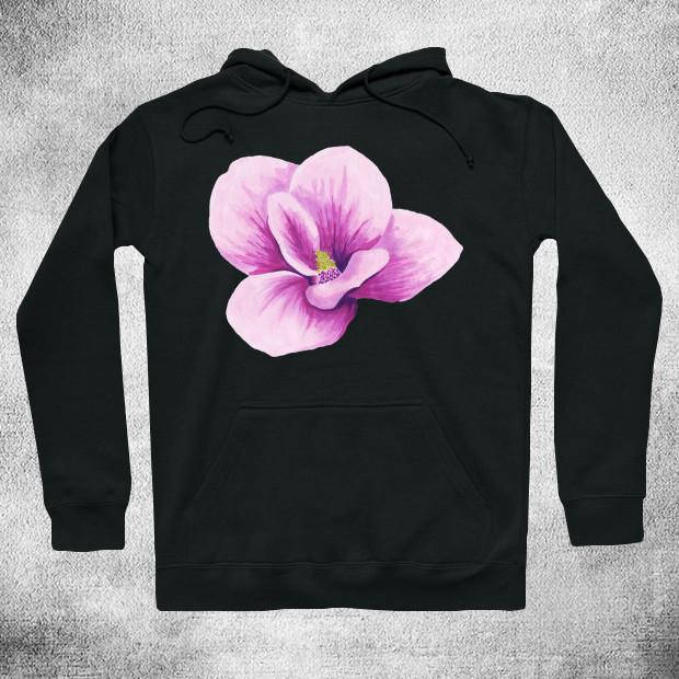 Pink flower Hoodie