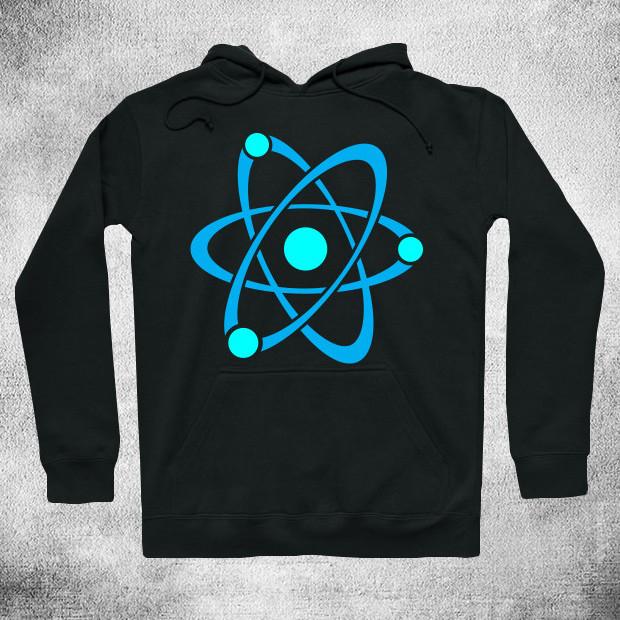 Cyan blue atom Hoodie