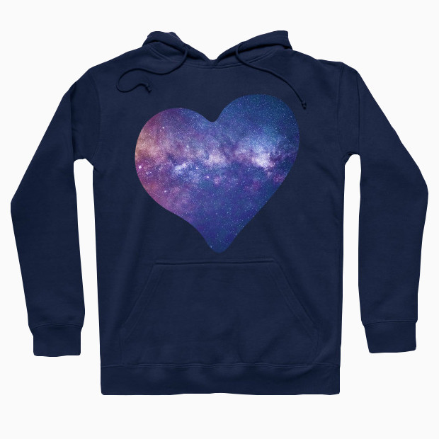 Galaxy heart Hoodie