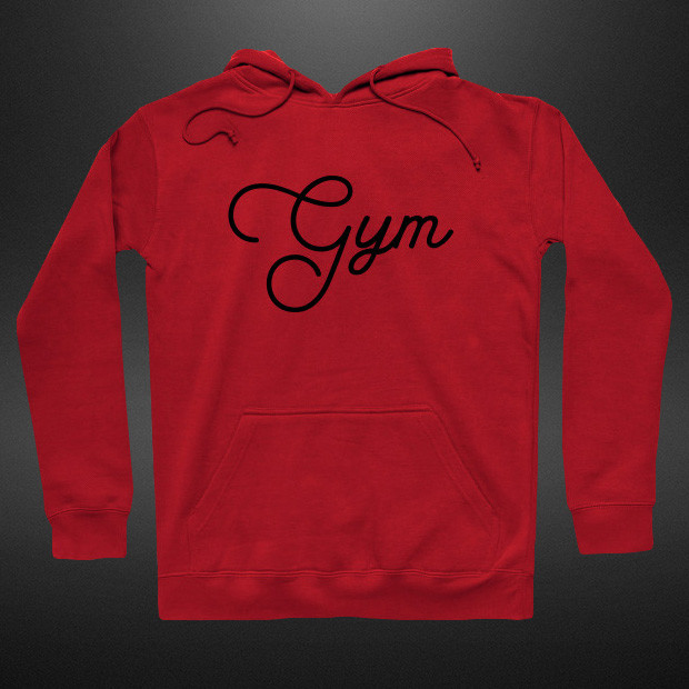 Gym elegant calligraphy Hoodie