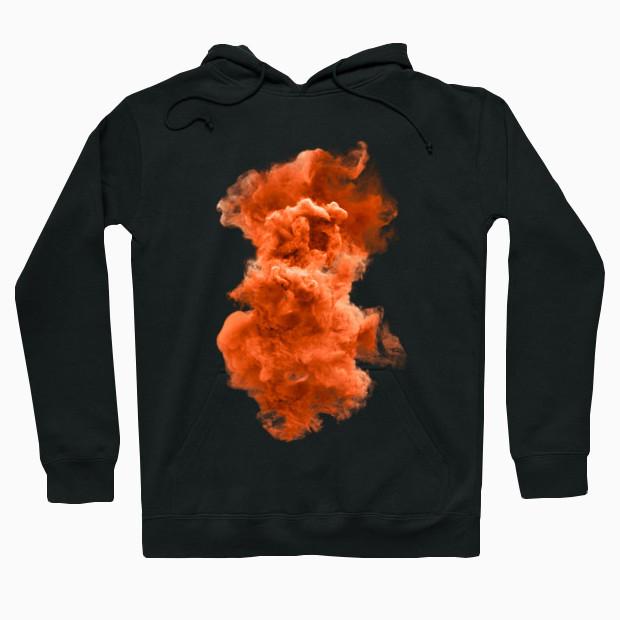 Orange cloud Hoodie