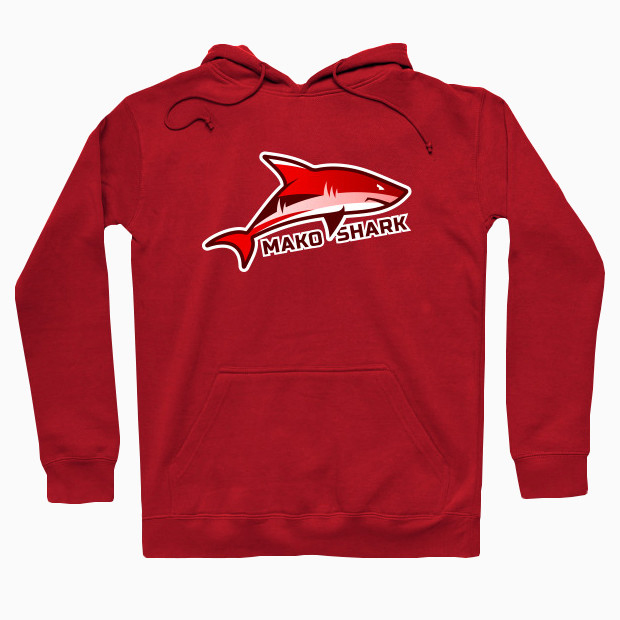 Red shark Hoodie