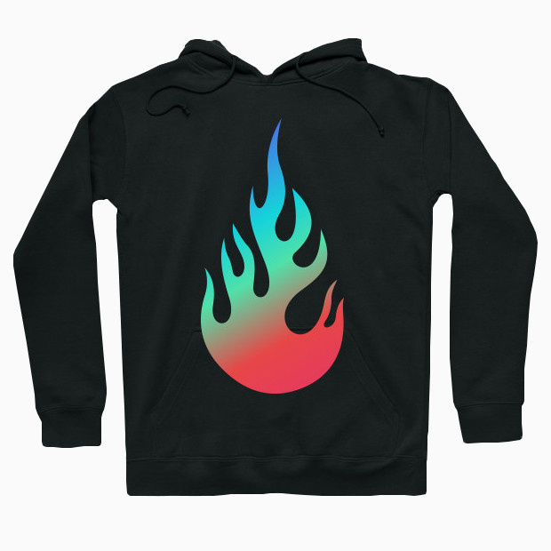 Colourful fire Hoodie