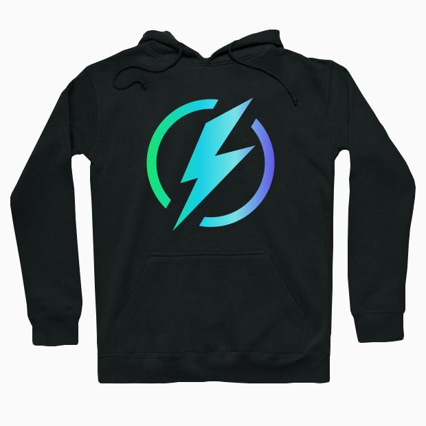 Lightning logo Hoodie