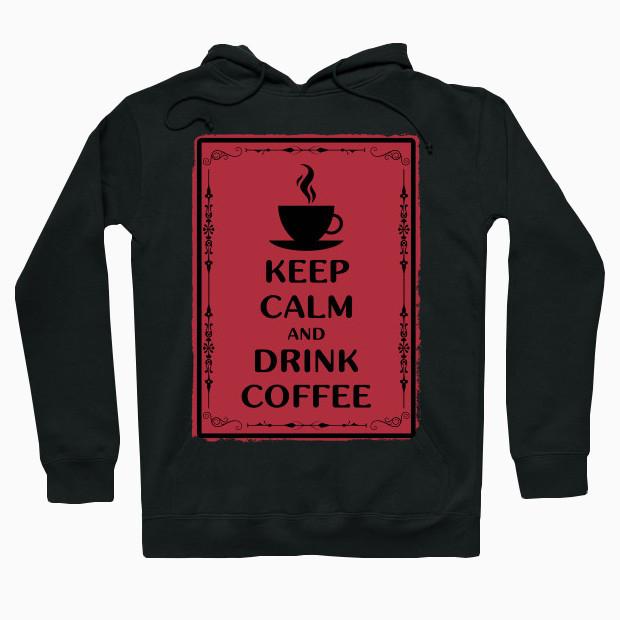 Coffee vintage red Hoodie