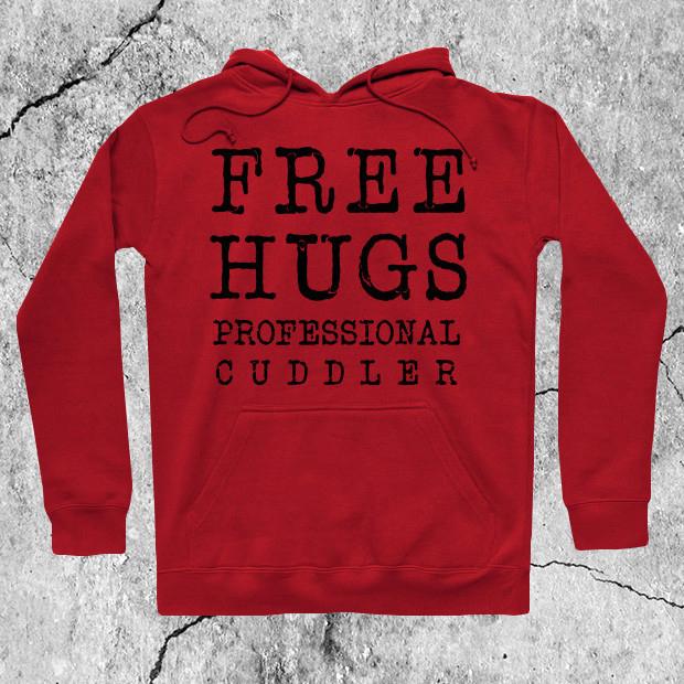 Free hugs professional cuddler Hoodie