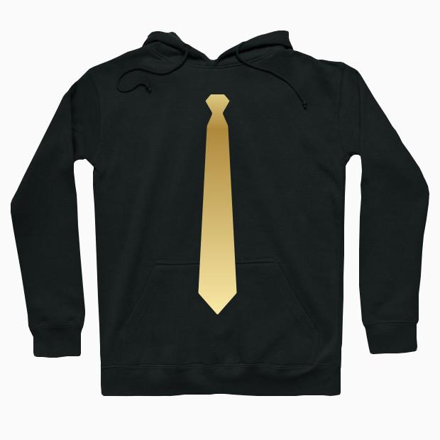 Gold tie Hoodie