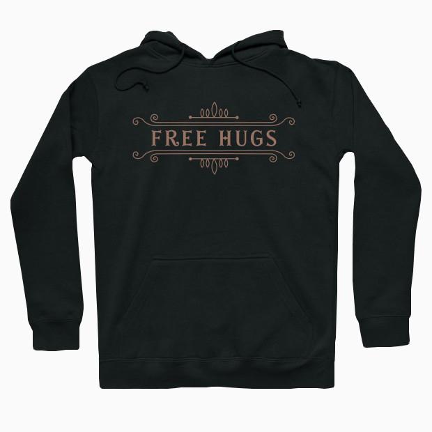 Vintage free hugs Hoodie