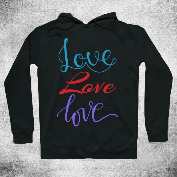 Colourful love Hoodie