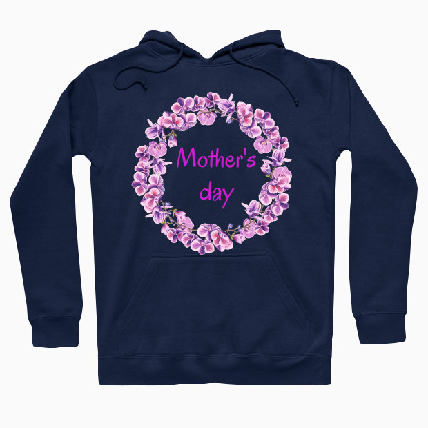 Pink wreath for mother day Hoodie