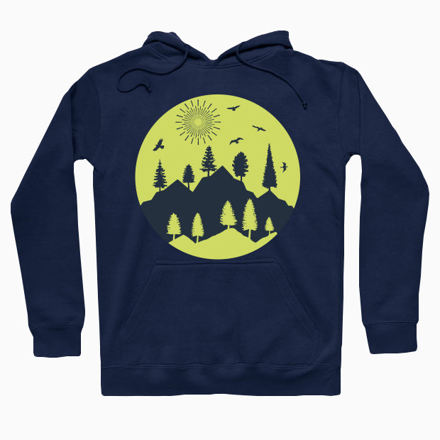 Discover the mountains Hoodie