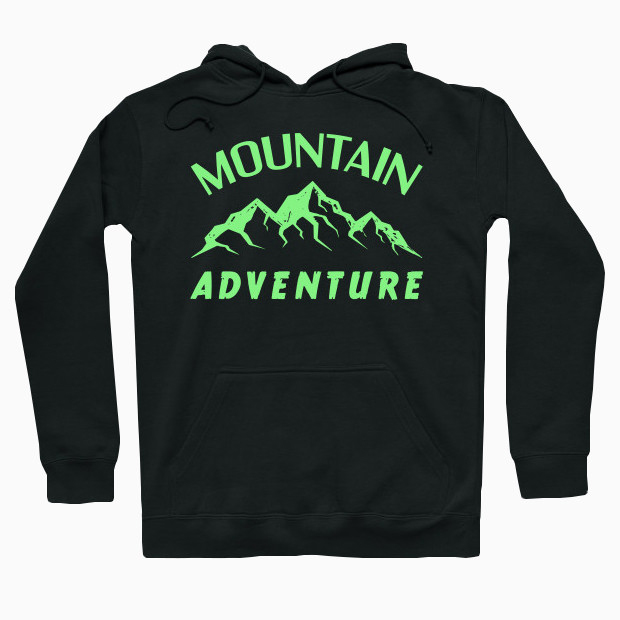 Green mountain adventure Hoodie