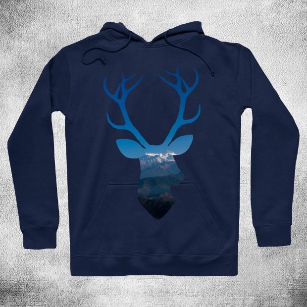 Mountain deer Hoodie