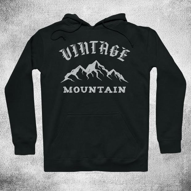 Vintage mountain Hoodie