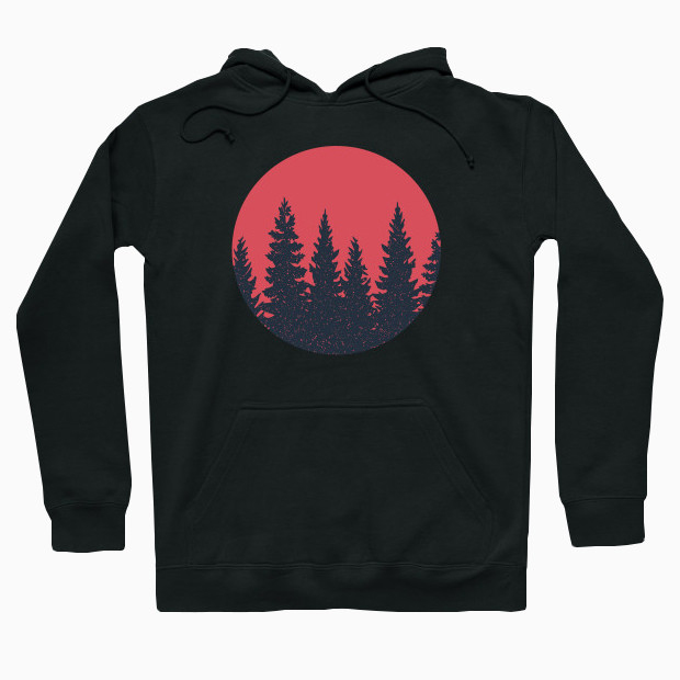 Forest at sunset Hoodie