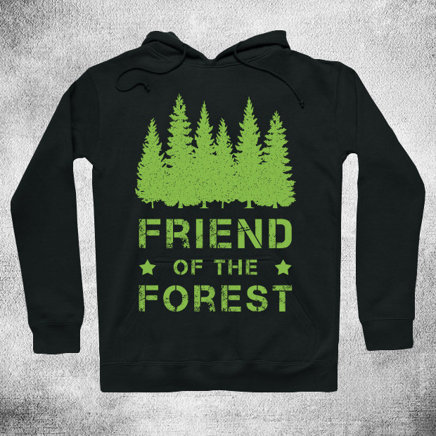 Green forest Hoodie