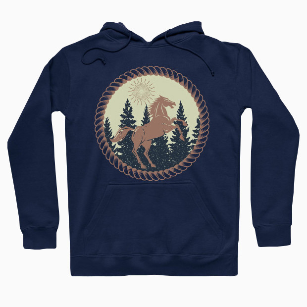 Horse in the forest Hoodie