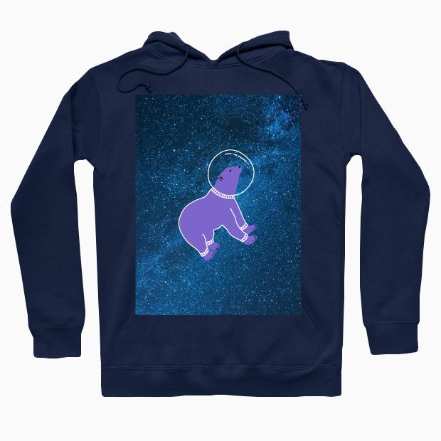 Bear floating in space Hoodie