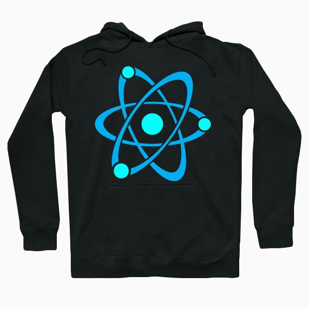 Blue atom Hoodie