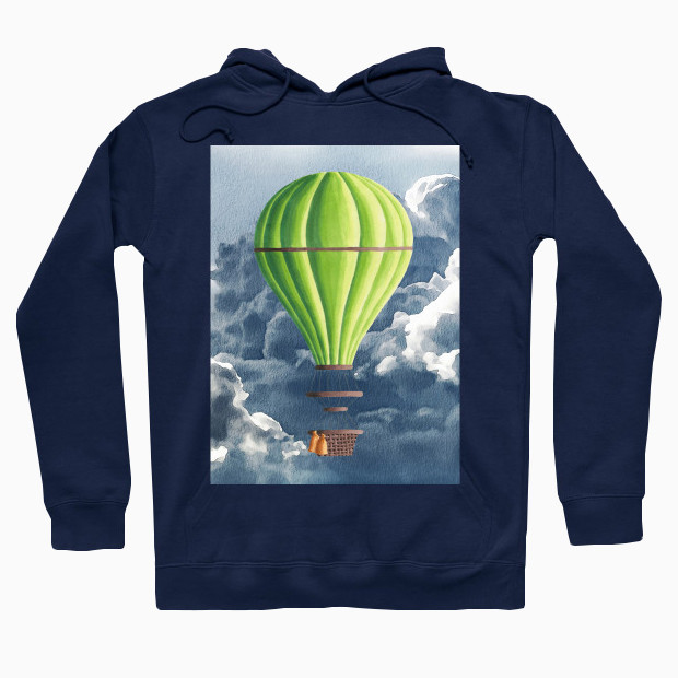 Fantasy balloon in clouds Hoodie