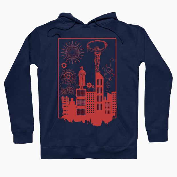 Steampunk city Hoodie