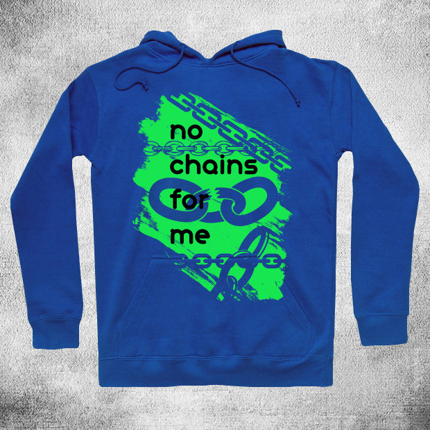 No chains green Hoodie