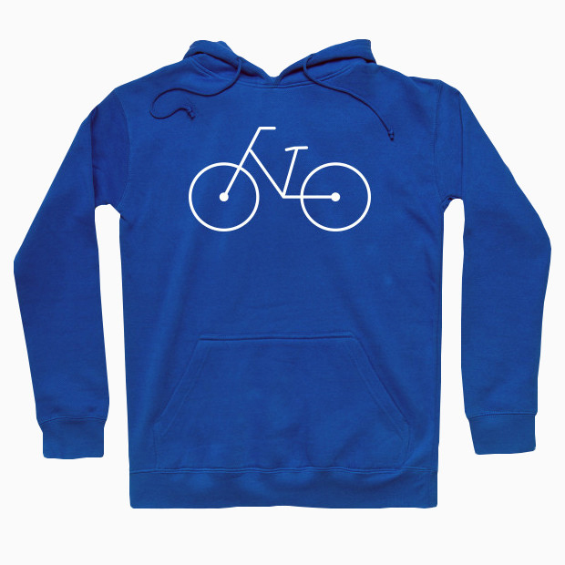 Simple bicycle logo Hoodie