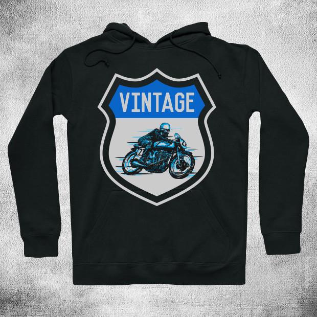 Vintage biker Hoodie