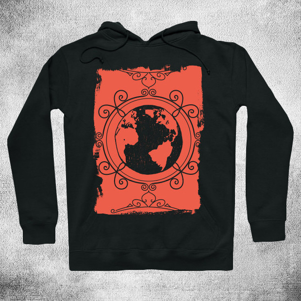 Artsy earth illustration Hoodie