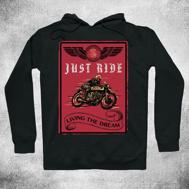 Bikers just ride Hoodie