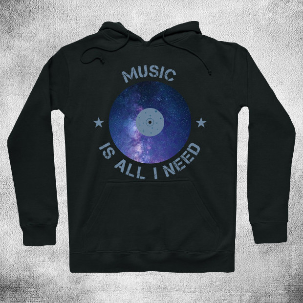 Music is all I need Hoodie