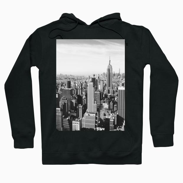 New York black and white photo Hoodie