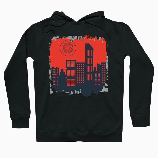 Sunrise City art Hoodie
