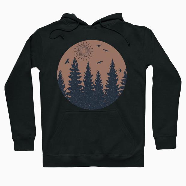 Vintage forest Hoodie
