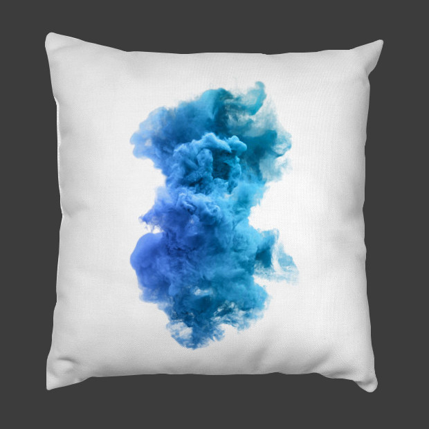 Blue and white cloud Pillow